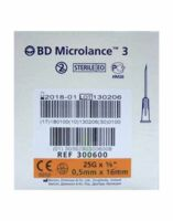 BD MICROLANCE 3, G25 5/8, 0,5 mm x 16 mm, orange  à MONTGISCARD
