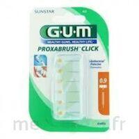GUM PROXABRUSH CLICK, 0,9 mm, ocre jaune , blister 6 à MONTGISCARD