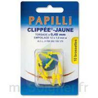 PAPILLI - CLIPPEE, jaune, sachet 10 à MONTGISCARD
