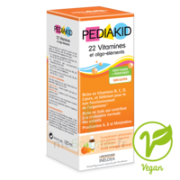 Pédiakid 22 Vitamines et Oligo-Eléments Sirop abricot orange 125ml à MONTGISCARD