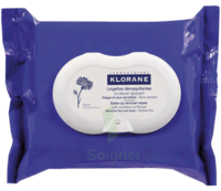 Klorane Soins des Yeux au Bleuet Lingette démaquillante biodégradable Pack/25 à MONTGISCARD